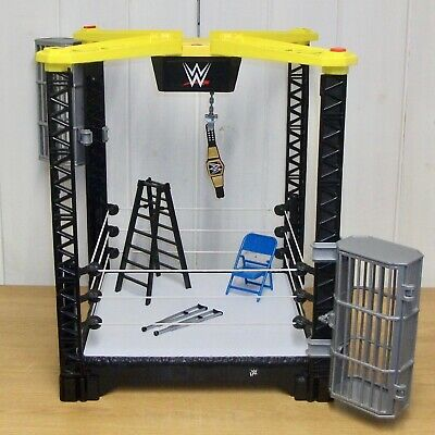 WWE - Tough Talkers - Championship Takedown - Wrestling Ring & Accessories • 34.99£