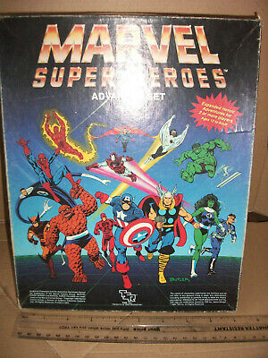 Marvel Super Heroes Advanced Set By Tsr In Played With Condition But Rare! • 50£