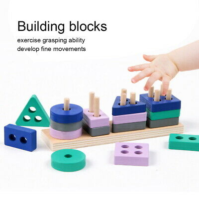 Wooden Toys For 1 2 3 4 5 Years Preschool Old Boys Girls Toddler Educational Toy • 4.59£