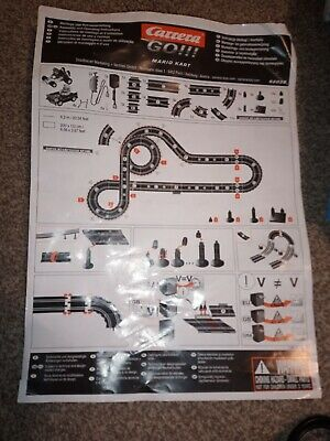 Carrera Go Mario Kart DS Electric Slot Car Set - Used • 16.20£