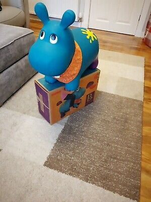 B Toys Hanky The Hippo Inflatable Ride On Bouncer Bouncy Boing BPA Free  • 10£