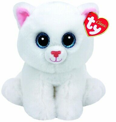 Official Ty Beanie - Ty Beanie Classic Pearl Cat Buddy 9  Soft Toy 90236 • 9.85£