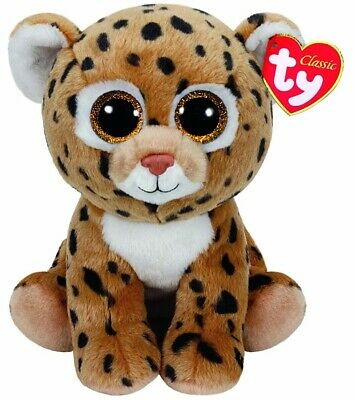 Official Ty Beanie - Ty Beanie Classic Freckles Leopard Buddy 9  Soft Toy 90231 • 9.85£