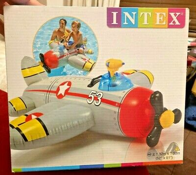 BNIB Intex Water Gun Plane Ride-On Kids Swimming Pool Beach Inflatable Fun Summe • 7.99£