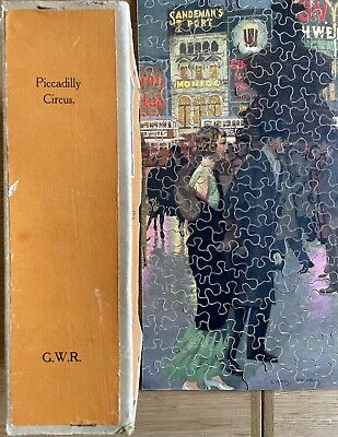 Vintage Wooden Chad Valley GWR Jigsaw Puzzle Piccadilly Circus Ex Con • 9.99£