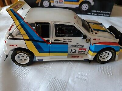 1:18 CODE 3 MG METRO 6R4 BROWN 1986 SKIP BROWN Rally Race Motorsport • 40£