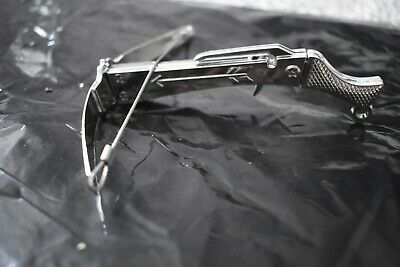 Mini Executive Toy Crossbow Metal & Plastic Construction, Silver • 7£
