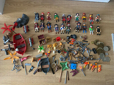 Playmobil Figures X20 With Accessories Pirate Toys • 30£