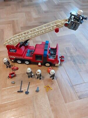Playmobil Fire Truck 3182 With Extra Fire Fighters • 3.80£