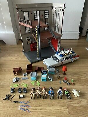 Playmobil Ghostbusters Bundle - Firehouse, Ecto 1 + Accessories • 60£