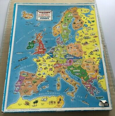Vintage Victory Jigsaw Puzzle-Industrial Life In Europe • 4.50£