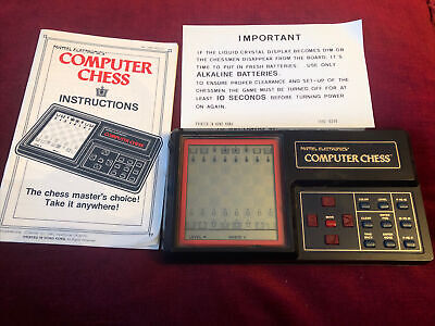 Rare Vintage 1980 Working Mattel Electronics Computer Chess With Instructions • 95£