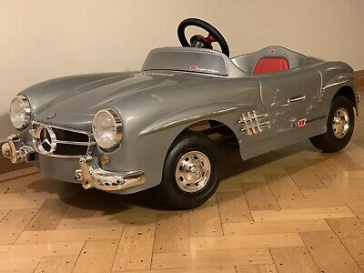 Classic Mercedes 300 SL Silver Ride On Pedal Car Toys Toys Brand Made In Italy • 30£