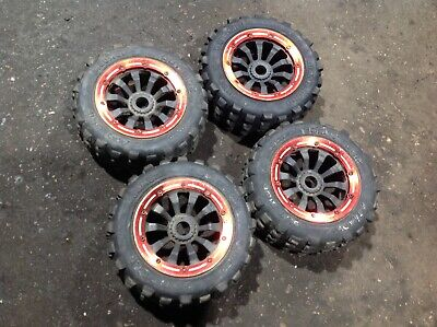 Losi 5ive T Rovan Lt Km X2 30dnt Wheels And Tyres Alloy Bead Locks • 55£