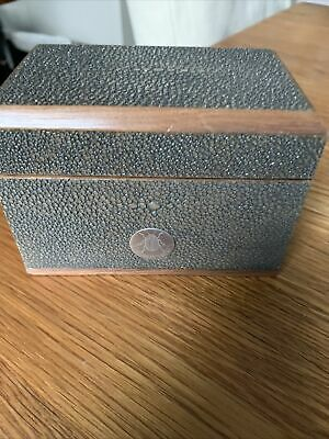 Forwood Design Luxury Playing Card Box In Chocolate Shagreen Lined In Walnut  • 40£