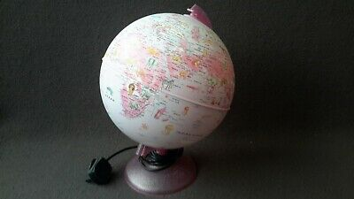 Pink Globe Light For Children With Animals • 19.90£