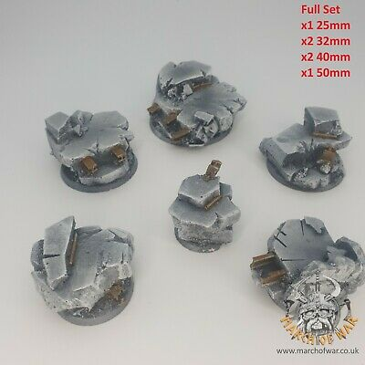 Urban Rubble Commander Bases, 40k, Warhammer, Resin Bases, March Of War • 24.95£
