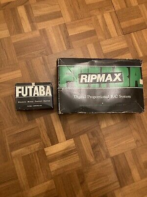Vintage Futaba Ripmax Transmitter, Lot Of Parts Incl. Good Condition! • 150£