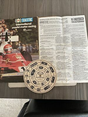 Scalextric 17th Edition 1976 Catalogue+speed Computer, Dealer Network Leaflet • 3.50£