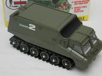 Dinky 353 Shado 2 Mobile Greenrare Flat Top Version Fully Restored & Display Box • 79.99£