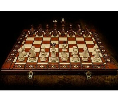 Hand Crafted Ambasador Wooden Chess Set & Board Perfect Gift  Queen's Gambit  • 61.99£