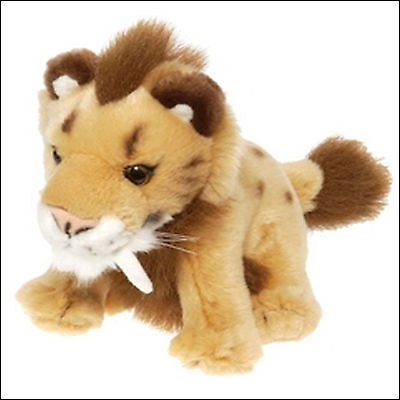 Wild Republic Baby Sabre Tooth Cat  Smilodon  Soft Toy Plush Toy 8  BNWT • 8.99£