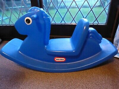 Little Tikes Blue Rocking Horse Excellent Condtion Used Indoors PICK UP ONLY • 5£