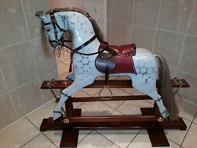 **Beautifully Handcrafted Traditional Wooden Rocking Horse** • 850£