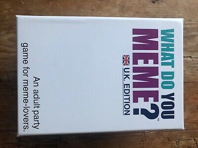 What Do You Meme? UK Edition Adult Party Card Game For Meme Lovers • 10.30£