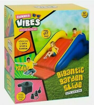 Gigantic Inflatable Garden Slide With Electric Pump Hours Of Slippin&Slides Fun • 74.99£