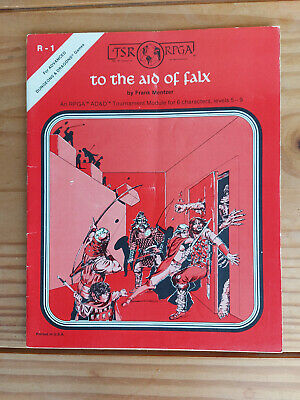 TSR R1 To The Aid Of Falx - Dungeons And Dragons - Very Rare Item - See Details • 99£
