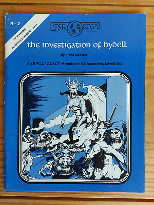 TSR R2 Investigation Of Hydell - Dungeons And Dragons  - Very Rare Item! • 99£