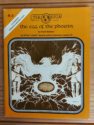 TSR R3 Egg Of The Phoenix - Dungeons And Dragons  - Very Rare Item! • 99£