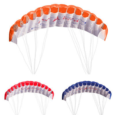 Huge 2.5m Toy Dual Line Parafoil Parachute Beach Stunt Sport Organe Outdoor Kite • 14.89£