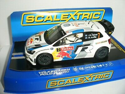 Scalextric - C3524 Volkswagen Polo R WRC Latvala - Mint (Light Not Working) • 29.99£