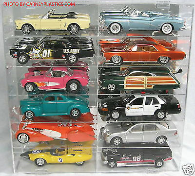 Model Car Diecast Display Case 1/18 Scale 12 Car Compartment • 89.28£
