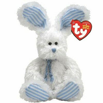 Ty Beanie Babies 42010 Hopsy The Blue And White Bunny Rabbit Regular • 6.99£