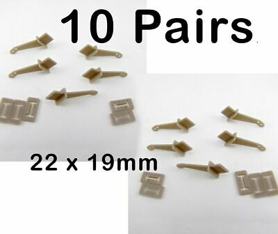 10 X Pin Control Horns 22x19x9mm Lightweight Elevator Rudder • 3.85£