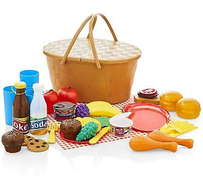 KiddyPlay Deluxe Picnic Basket Playset Childrens/Kids Toy • 7.99£