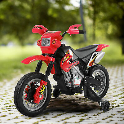 HOMCOM Kids Electric Motorbike Child Red Motorcycle 6V Scooter • 63.99£