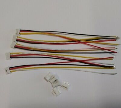 JST 1.25MM 4 Pin Male & Female Connector Plug Wires 10cm Cables X 5 • 3.45£