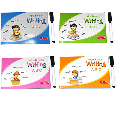 Childrens Kids Learning Handwriting Practice Wipe Clean Writing Alphabet Book  • 6.24£