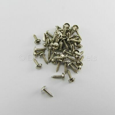50 Self Tapping Machine Screws M2 X 8mm (2mm) Phillips Head W/Shoulder Flange • 3.64£