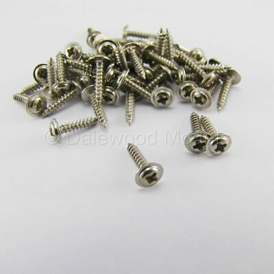 50 Self Tapping Machine Screws M2 X 10mm Phillips Head W/Shoulder Flange • 3.60£