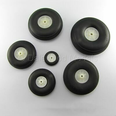 Pairs Of Wheels With Rubber Tyres 25-69mm 1 -2.75  RC Model Plane • 6.35£