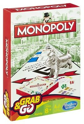 Hasbro Family Gaming Grab And Go Monopoly TRAVEL Game • 8.99£