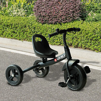 HOMCOM Baby Kids Children Toddler Tricycle Ride On Trike 3 Wheels Safety Black • 33.99£
