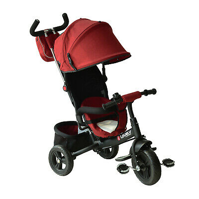 HOMCOM Kids Tricycle Children Ride On 3 Wheels Toddler Canopy W/ Handle • 74.99£