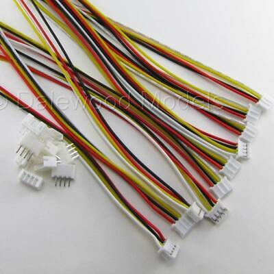 5 Sets JST PH 2.0mm 4 Pin Male-Female Connector Plug Wires Cables 200mm • 3.25£