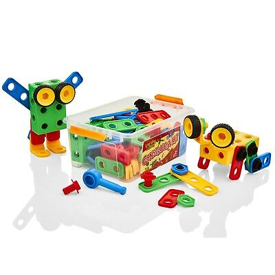 Learning Minds Model Building Tool Kit Childrens/Kids Construction Nuts Toy Set • 12.99£